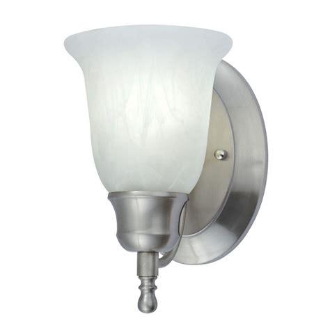 alabaster sconce 1 light nickel fluorescent vanity sconce with alabaster