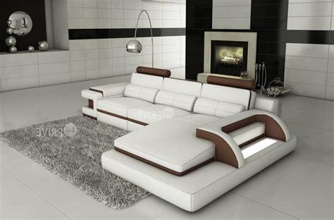 canapé design luxe italien canapé d 39 angle en cuir italien 6 places vinoti blanc et