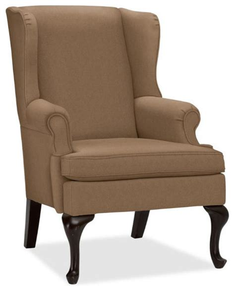 gramercy wingback chair nutmeg everydaysuede