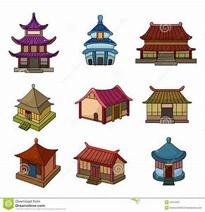 Maison Japonaise Dessin : cartoon chinese house icon set stock vector illustration of decorate illustration 19970397 ~ Melissatoandfro.com Idées de Décoration