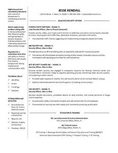 objective security resume 10 professional security officer resume sle writing resume sle writing resume sle