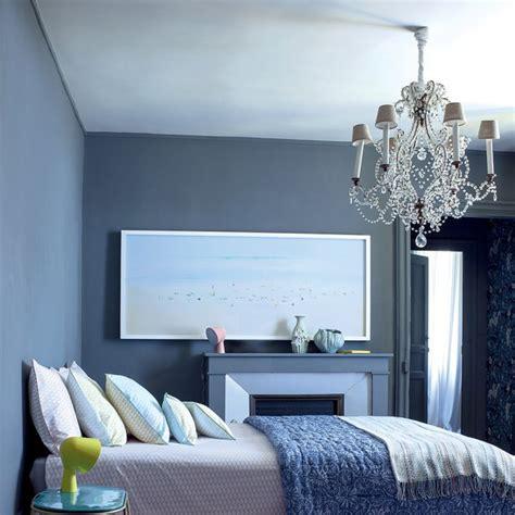 chambre bleu maison