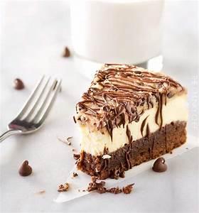 Brownie Bottom Cookie Dough Cheesecake The Chunky Chef