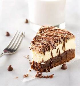Brownie Bottom Cookie Dough Cheesecake - The Chunky Chef