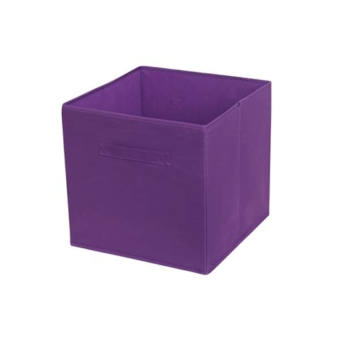 panier de rangement multikaz violet h 31 x l 31 x p 31