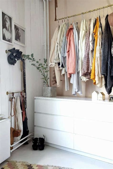 Ideas For Hanging Clothes Without A Closet ideas for storing clothes without closets