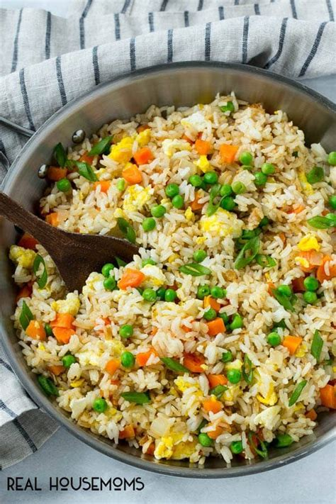 Although rice pudding originated in asia, this hearty dessert found its way into various cultures worldwide, picking up local we will help you with making some delicious rice recipes including thai rice, tamarind rice and more that you can prepare at home when guests. Easy Fried Rice ⋆ Real Housemoms