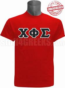 chi phi sigma greek letter t shirt red embroidered with With sigma chi letter shirt