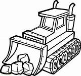 Bulldozer Clipart Drawing Simple Getdrawings Webstockreview sketch template