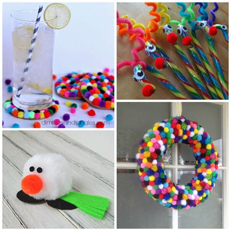 stylish christmas crafts pom pom crafts for crafty morning