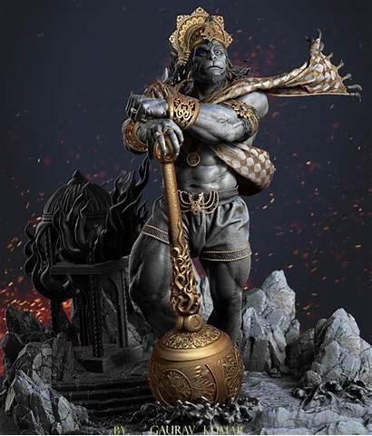 Hanuman Zbrush God 3d Sculpture Lord Hindu