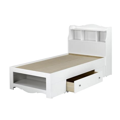 nexera dixie white twin platform bed  storage  lowescom