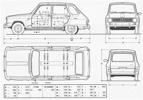 renault 6 1970 blueprint free blueprint for 3d