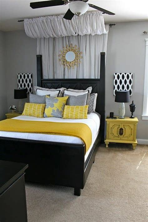 deco chambre jaune décoration chambre gris et jaune