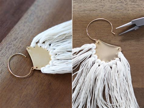 DIY : Diy Brass Fringe Earrings