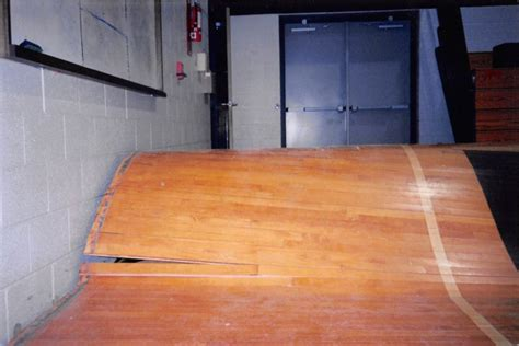 water damage  gym floor flooded basketball court gym