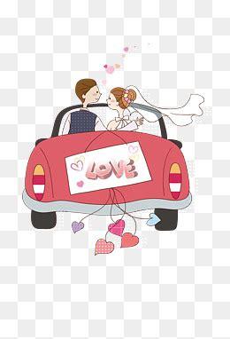 cartoon wedding car png images vector  psd files