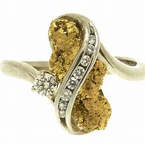 alaskan gold nugget diamond rings wedding promise With gold nugget wedding rings