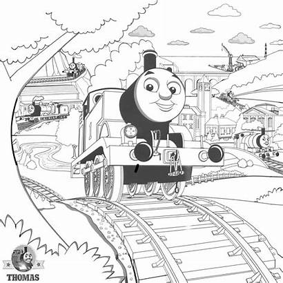Train Steam Thomas Coloring Engine Pages Drawing