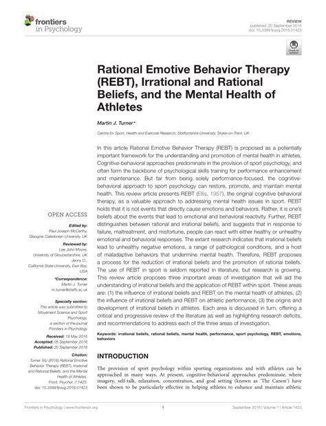 rational emotive behavior therapy rebt irrational
