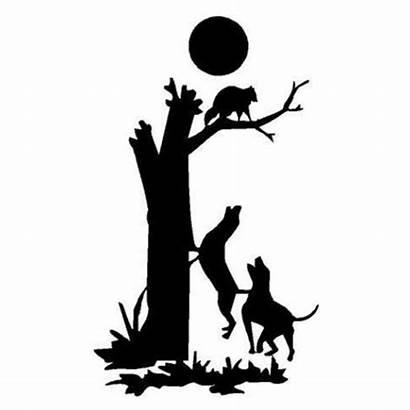 Coon Hunting Treeing Dog Decal Dogs Raccoon