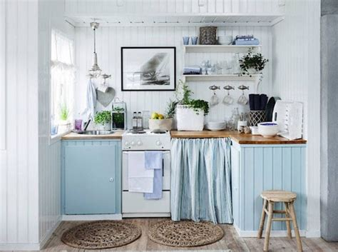 cuisine bleu pastel dix idées pour mettre de la couleur dans sa cuisine