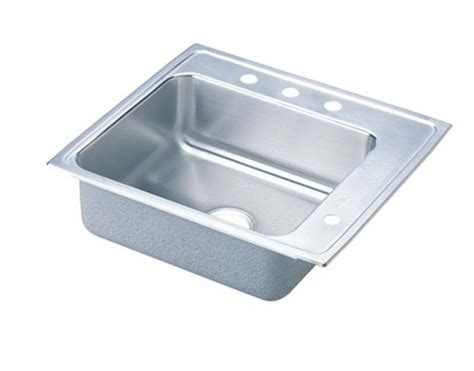 elkay classroom single bowl drop in self rimming stainless