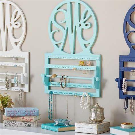 Pottery Barn Wall Accessories by Script Monogram Wall Jewelry Storage Pbteen