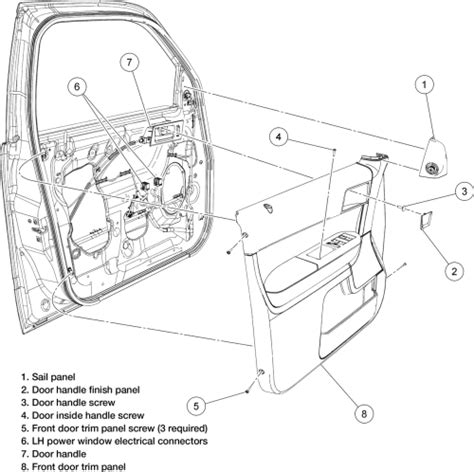 Car Latch Diagram by Ford Escape Door Diagram Wiring Diagrams