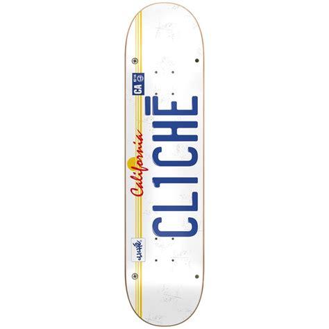 cliche skateboard decks 775 cliche license plate 7 75 skateboard evo