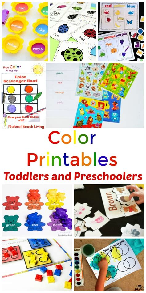 25 preschool color activities printables learning 913 | Color Printables Huff 600x1200 picmonkeyed
