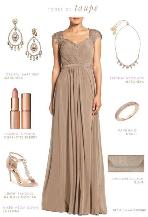 taupe color dress taupe evening gown neutral special occasion dress