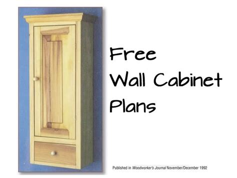 wall cabinet plans woodwork city  woodworking plans
