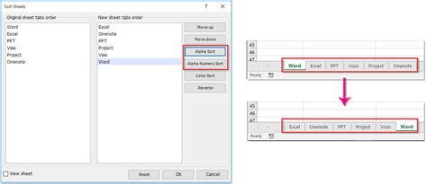 how to sort worksheets in alphabetical alphanumeric order in excel
