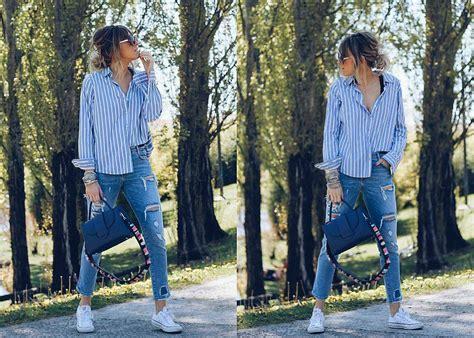 Camisas de rayas y looks relajados por Ane Hernando | Noticias de Moda en Diario de Navarra DNPlus