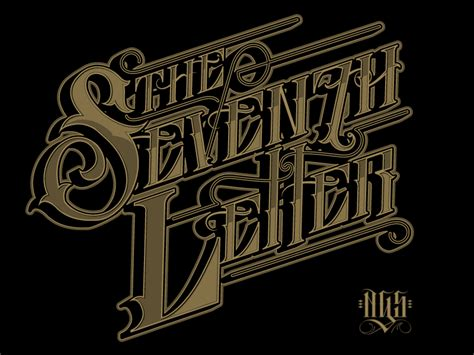 the seventh letter 1 2 by catrin valadez dribbble