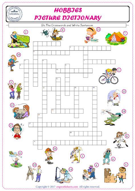 hobbies esl printable english vocabulary worksheets