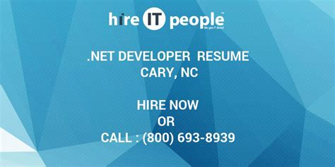 net developer resume cary nc hire  people