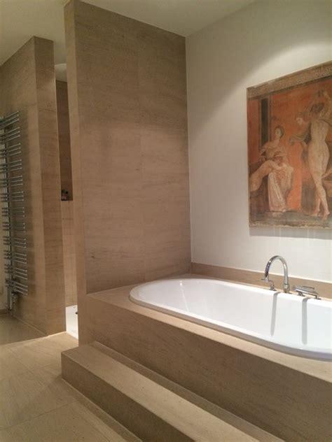 Badezimmer Modern Naturstein by Naturstein Badewanne Und Ebenerdige Dusche