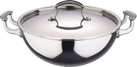 steel stainless cookware bergner brands india wok kadai flipkart amazon range entire