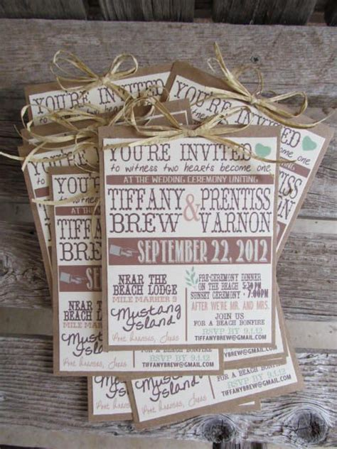 rustic wedding invitations this could be a great diy