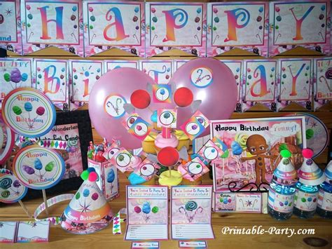 printable candyland party supplies candy wonderland