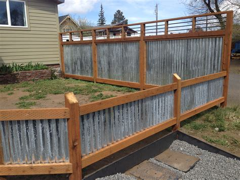 Zaun Holz Metall by Corrugated Metal Fence Panels Home Depot With Well Made
