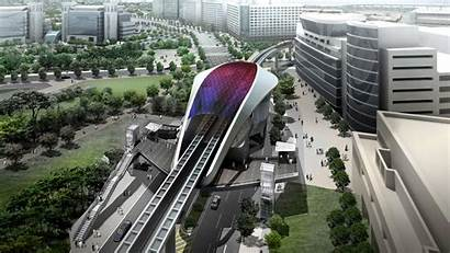 Urban Lassa Architects Maglev Transit Studio Render