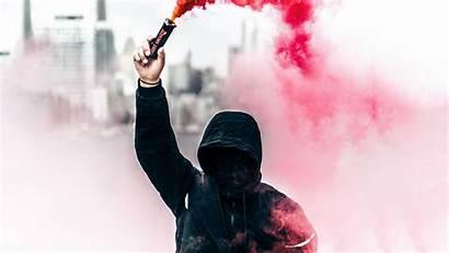 Smoke Hoodie Person Grenade Wallpapers 4k 1080p
