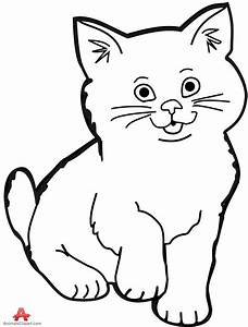 Kitten clipart black and white - Pencil and in color ...