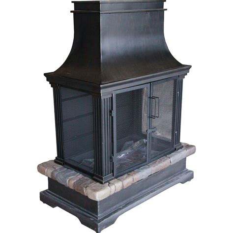 Hampton Bay Sevilla 36 In Steel And Slate Wood Burning