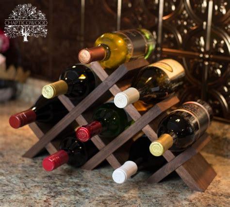 tabletop wine rack 24 unique handmade wine rack designs
