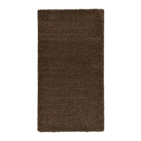 brown area rugs ådum rug high pile ikea