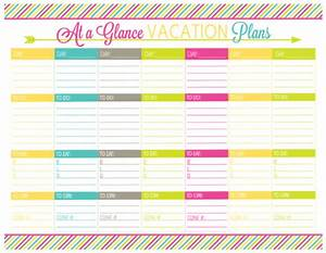 vacation planning printable pack organizing homelife With vacation planning calendar template
